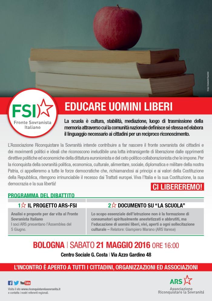 ARS FSI Volantino Scuola Bologna 21 Maggio [A4] (2)